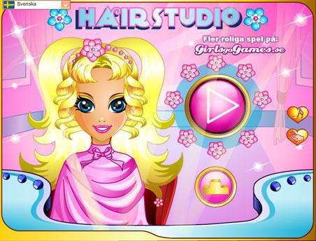 بازی دخترانه آرایش مو